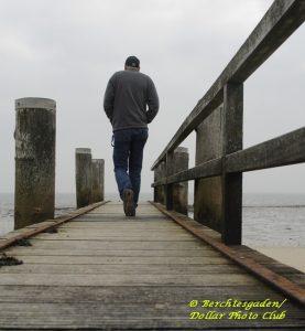 Man on Boardwalk, depression, PTSD,veteran