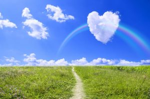 © PaylessImages / 123RF.com - A path and heart in clouds