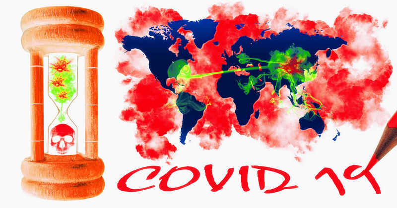 COVID-19 graphic concept of viral attack