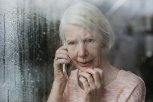 fear and anxiety in a senior women